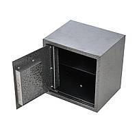 Сейф мебельный металлический для денег бумаг документов 25х25х20 см, фото 1