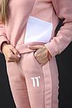 Костюм женский флисовый тёплый пудра 42-44, 46-48, фото 5