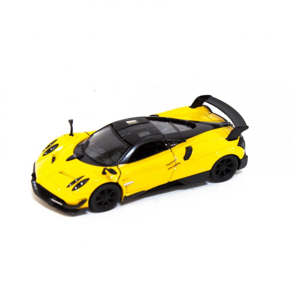 Игрушечная машинка металлическая Kinsmart KT5400W Pagani Huayra BC Желтый