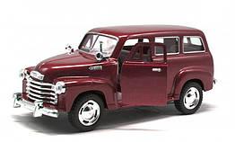 Игрушечная машинка металлическая Kinsmart KT5006W Chevrolet Suburban Carryyall 1950 Красный