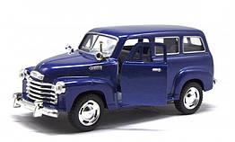 Игрушечная машинка металлическая Kinsmart KT5006W Chevrolet Suburban Carryyall 1950 Синий