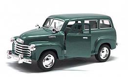 Игрушечная машинка металлическая Kinsmart KT5006W Chevrolet Suburban Carryyall 1950 Темно-Зелёный