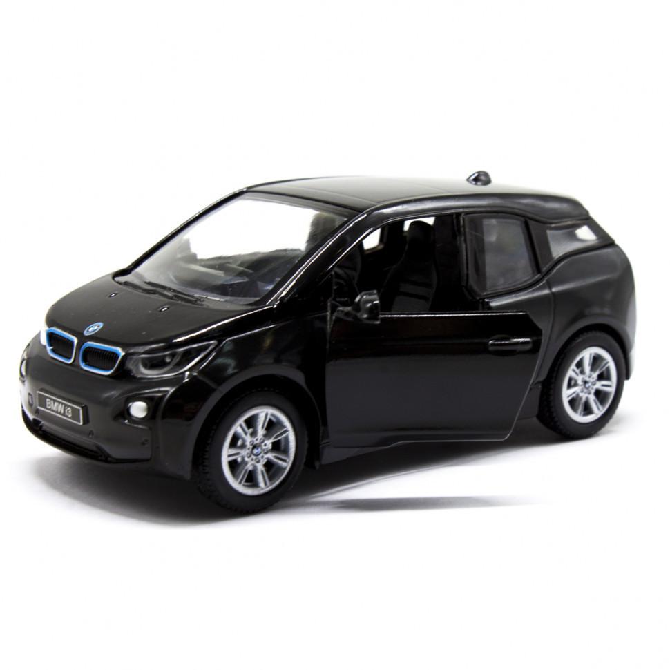 Игрушечная машинка металлическая Kinsmart BMW i3 KT5380W Черный