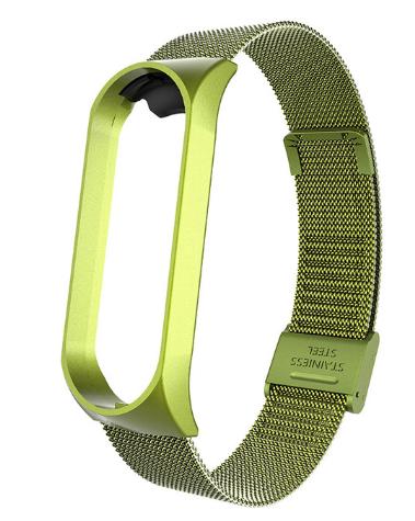 Металлический браслет Цвет Зелёный для фитнес трекера Xiaomi mi band 5 ремешок аксессуар замена