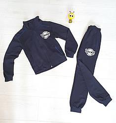 Темно-синий Прогулочный  костюм на мальчика На рост 152 см Украина