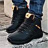 Зимові Кросівки ADIDAS TERREX з ХУТРОМ Чорні Чоловічі Черевики Адідас (розміри: 46)Відеоогляд, фото 3