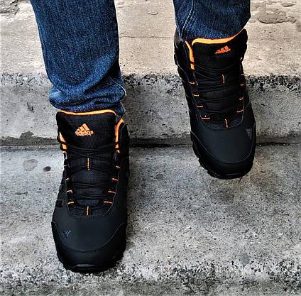 Зимові Кросівки ADIDAS Climaproof ХУТРОМ Чорні Чоловічі Черевики Адідас (розміри: 41,42,44,45)Відеоогляд, фото 3