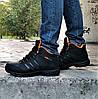 Зимові Кросівки ADIDAS Climaproof ХУТРОМ Чорні Чоловічі Черевики Адідас (розміри: 41,42,44,45)Відеоогляд, фото 2