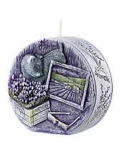 Свічка диск ароматична лаванда 9.5 см, фото 1