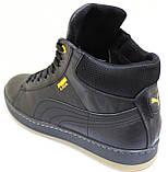 Ботинки осенние на байке мужские кожаные от производителя модель ВК002, фото 3