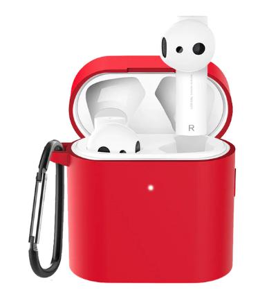 Чехол для наушников Xiaomi Mi Air 2 Цвет Красный TWS Bluetooth Silicone Case