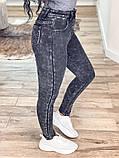 Мраморные теплые женские джинсы на флисе New jeans 31-557, фото 2