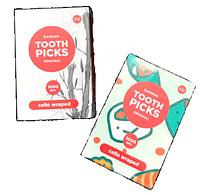 Зубочистки 1000шт бамбук индивидуальная целлюлозная упаковка К-Tooth Picks
