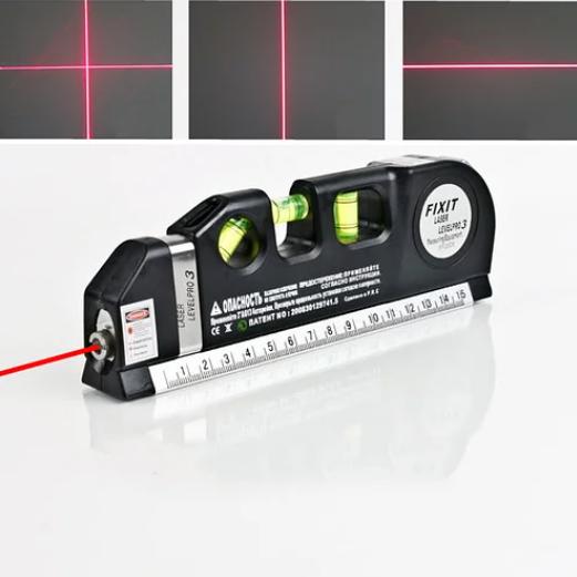 Лазерний рівень з вбудованою рулеткою