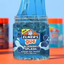 Прозрачный Слайм Элмерс Голубой НОВИНКА! Elmer's Slime ОРИГИНАЛ Blueberry Splash Slime