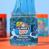 Прозрачный Слайм Элмерс Голубой НОВИНКА! Elmer's Slime ОРИГИНАЛ Blueberry Splash Slime, фото 1