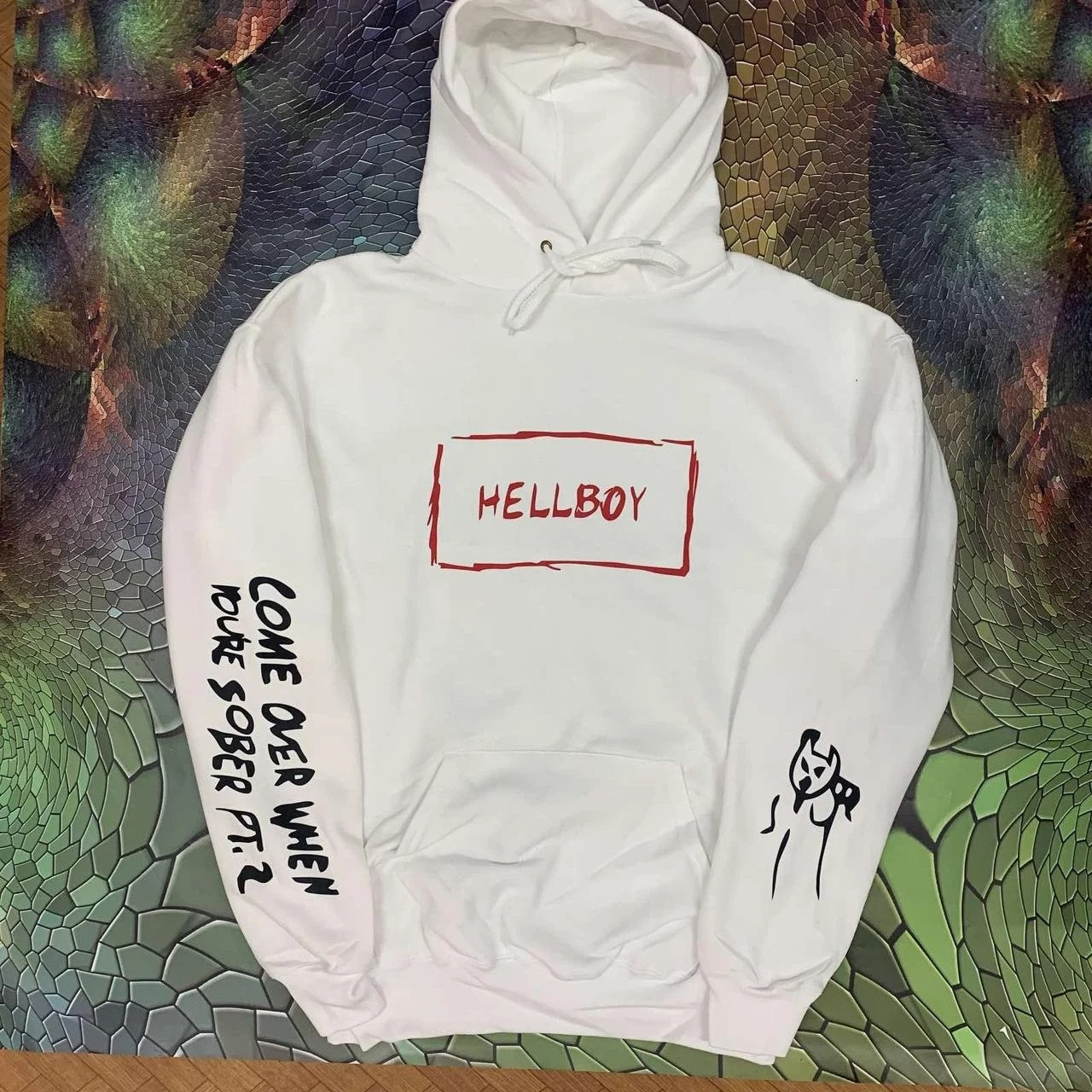 Худи A SHO Lil Peep Hellboy L белый