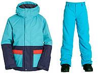 Зимний раздельный мембранный термокомбинезон, горнолыжный костюм Billabong для мальчика 152,158,164 см голубой, фото 1