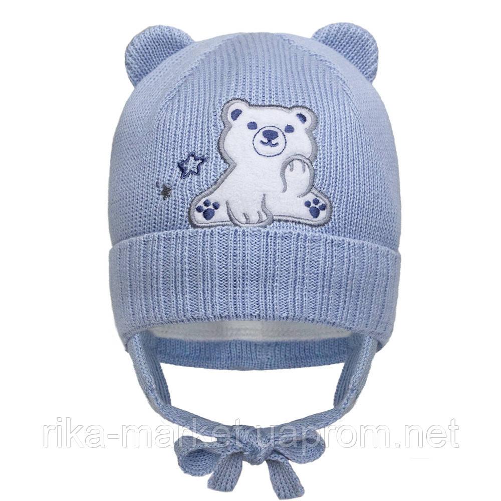 Зимняя шапка для  мальчика, Девидстар,  арт.21430 от 3 до 6 месяцев