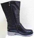 Сапоги на широкую ногу женские зимние большого размера от производителя модель РМ7435, фото 4