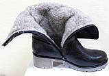 Сапоги на широкую ногу женские зимние большого размера от производителя модель РМ7435, фото 6