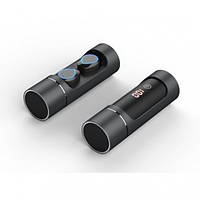 Беспроводные наушники вкладыши Wireless Earbuds K08 TWS HiFi Earphones Мини-гарнитура Bluetooth 5.0 в тубе + LED индикатор заряда + Павербанк 1000 мАч