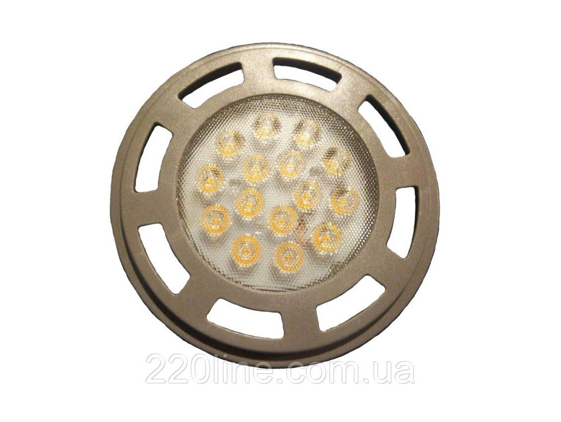 Лампа светодиодная GU10 LED 15W WW AR111