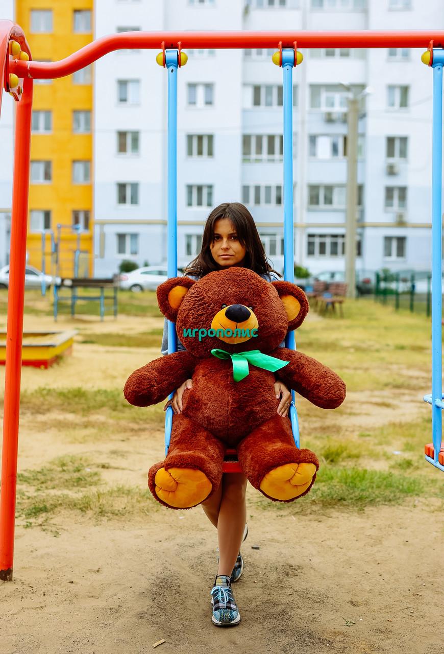 """Плюшевый мишка """"Томми"""", Шоколадный (100 см)"""