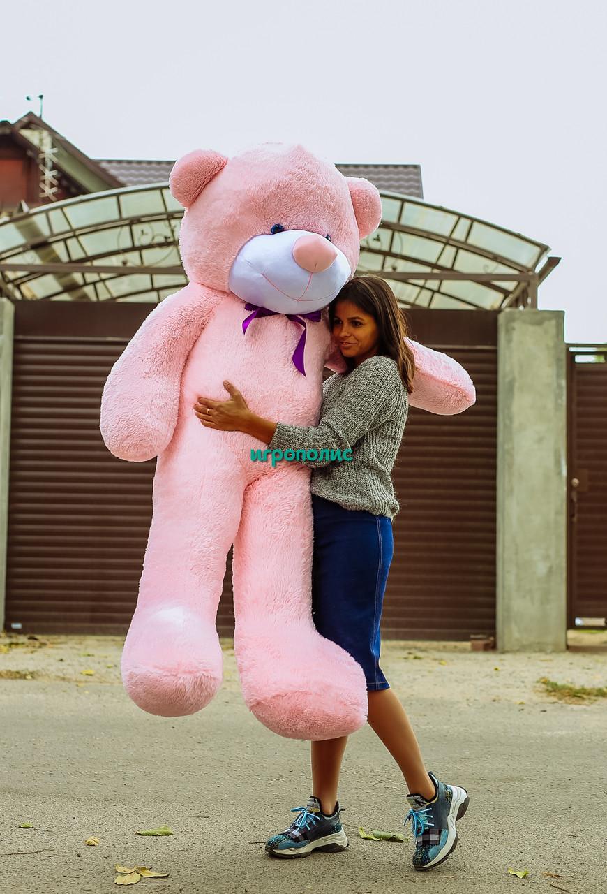 """Большой плюшевый мишка """"Рафаэль"""", Розовый (180 см)"""