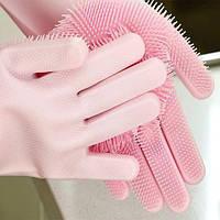 Силиконовые многофункциональные перчатки для мытья и чистки Magic Silicone Gloves., фото 1