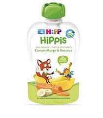 Пюре фруктовое органик морковк-манго-банан HiPP (Хипп) 100 гр с 4 месяцев