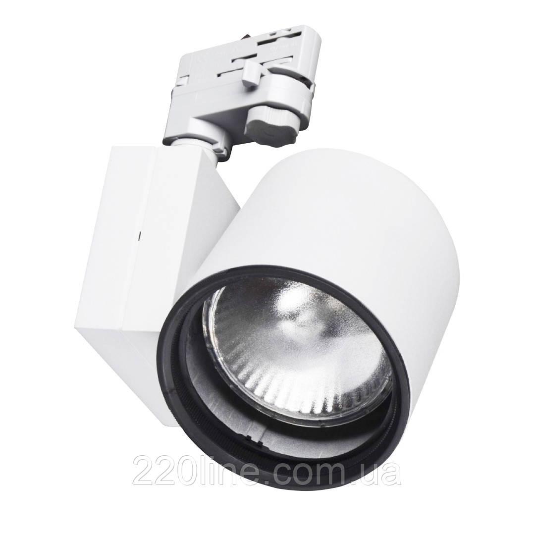 Светильник трековый поворотный под лампу KW-2/70W E27 SL