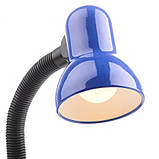 Настольная лампа на гибкой ножке офисная MTL-25 BL, фото 3