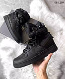 Nike SF Air Force 1 (черные) cas, фото 2