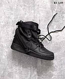 Nike SF Air Force 1 (черные) cas, фото 8