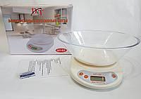 Ваги кухонні електронні з чашкою D&T DT-02 до 5 кг