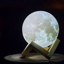 Ночник в виде Луны 3D Moon Light сенсорный 5 режимов диаметр 18 см.