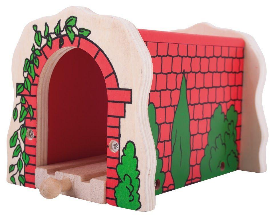 Туннель для деревянной дороги с красного кирпича Bigjigs