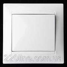 Выключатель одноклавишный белый KB-1V wh