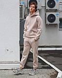 Спортивный костюм на флисе бежевый, фото 4