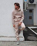 Спортивный костюм на флисе бежевый, фото 5
