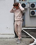 Спортивный костюм на флисе бежевый, фото 3