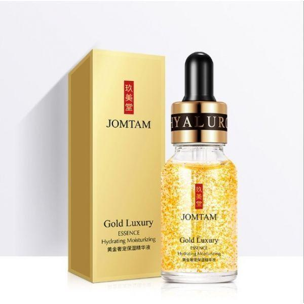 Сыворотка для лица JOMTAM Gold Luxury Essence с частицами золота и гиалуроновой кислотой 15 мл