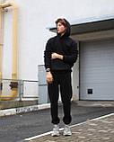 Спортивный костюм на флисе чёрный, фото 5