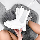 Ботинки женские Veneta белые деми 2371, фото 3