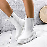 Ботинки женские Veneta белые деми 2371, фото 5