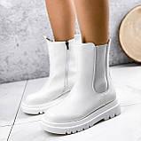 Ботинки женские Veneta белые деми 2371, фото 6