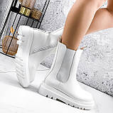 Ботинки женские Veneta белые деми 2371, фото 7