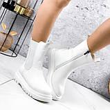 Ботинки женские Veneta белые деми 2371, фото 8