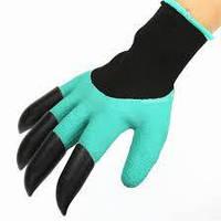 Садовые перчатки с когтями Garden Genie Gloves., фото 1